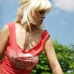 Blonde Holiday Babe Flashing Tits